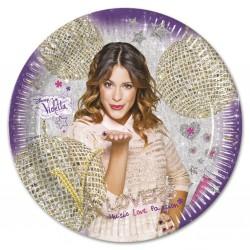 8 assiettes en carton 23cm - Violetta
