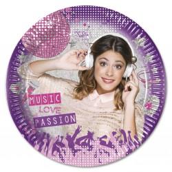 8 assiettes en carton 20cm - Violetta