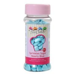 Sprinkles coeurs bleu nacré