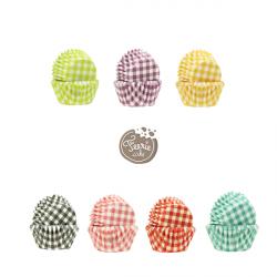 """100 mini caissettes """"vichy"""" - Différentes couleurs"""