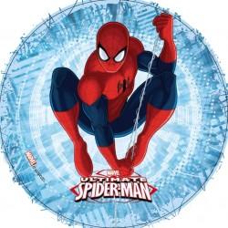Disque pâte à sucre gâteau Spiderman 21cm - Différents modèles