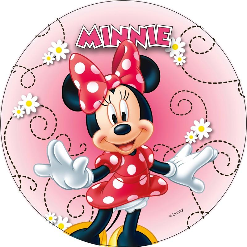 Disque azyme Minnie 21 cm - Différents modèles - Modecor