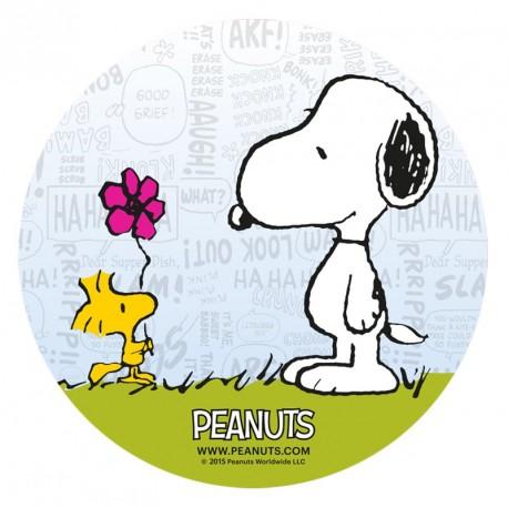 Disque pâte à sucre - Snoopy et Woodstock