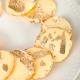 5 feuilles d'or 24 carat comestibles