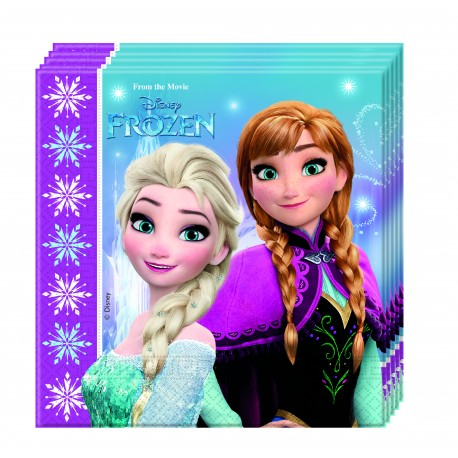 20 serviettes - La Reine des Neiges