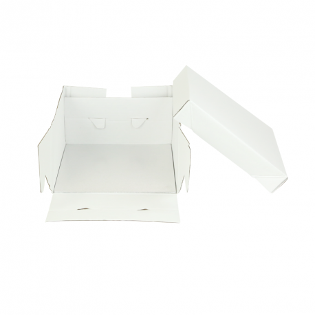 Boîte blanche avec support carré 35x35x15cm