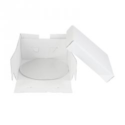 Boîte blanche avec support rond 35x35x15cm