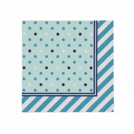 """20 serviettes en papier """"BLUE"""""""