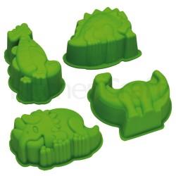 Set de 4 moule en silicone dinosaures pour enfant