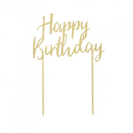 Topper en acrylique - Happy Birthday