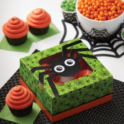 "2 boîtes à cupcakes ""araignée"""