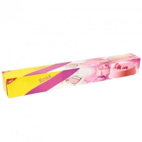 Pâte à sucre rose étalée prête à l'emploi