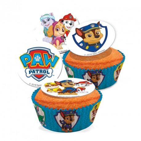 16 mini disques en sucre Pat' Patrouille