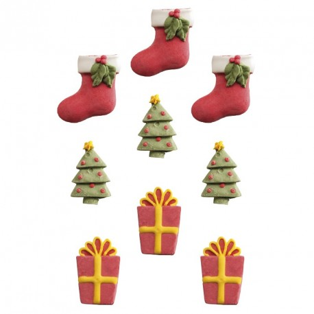 """8 décorations en sucre """"Noël"""""""