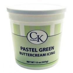 """Crème au """"beurre"""" prête à l'emploi (Buttercream) - Couleur vert pastel"""
