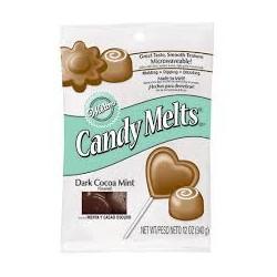 Candy Melts Wilton 340g - Chocolat noir menthe