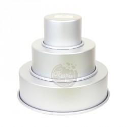 Kit de 3 moules à ronds pour wedding cake Feerie Cake