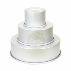 3 moules à gâteaux pour wedding cake - 10, 20, 30 x 7,5cm