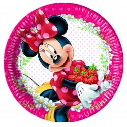 8 assiettes 23 cm - Minnie