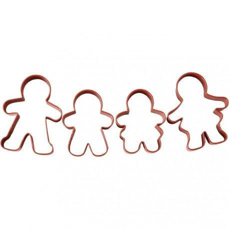 """4 emporte-pièces """"la famille pain d'épices"""""""