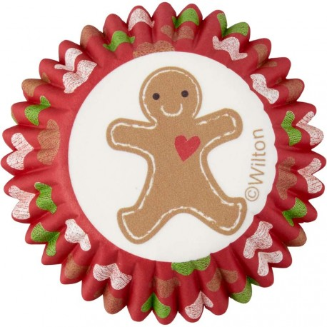"100 Mini-Cupcake Förmchen ""Lebkuchenmann"""