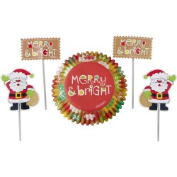 """24 caissettes et pics """" Père Noël"""""""
