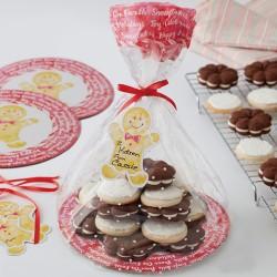 """2 sachets pour biscuits avec plateaux """"pain d'épice"""""""