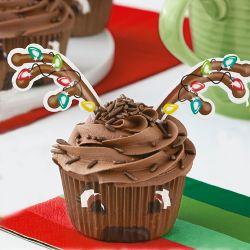 """Kit de décoration pour cupcakes """"renne"""""""