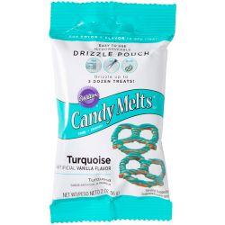 Poche à glaçage - Candy Melt turquoise - 56g