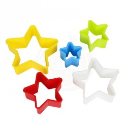 """Set de 5 emportes-pièces """"étoile"""""""