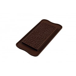 "Moule en silicone tablette de chocolat ""coeur"""