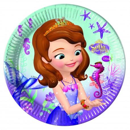 8 assiettes 23 cm - Princesse Sofia