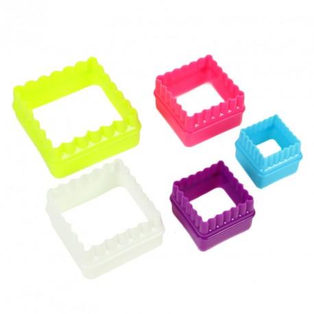 """Set de 5 emporte-pièces """"carré"""""""