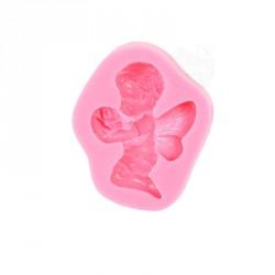 """Moule à gumpaste en silicone """"petit ange"""""""