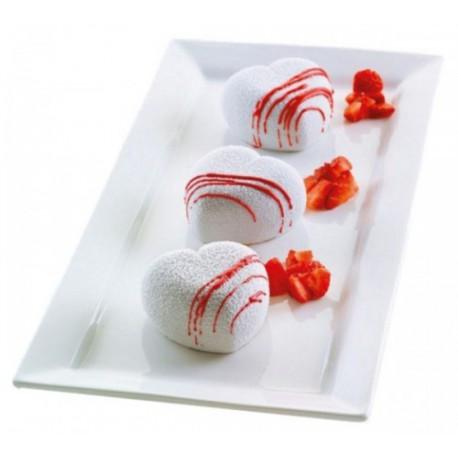 """Moule en silicone pour mini gâteaux 3D """"coeurs"""""""