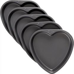 """5 moules à gâteaux pour layer cake """"Coeur"""""""