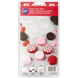 Moule pour biscuits enrobés motifs cœurs