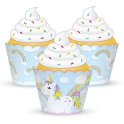 "12 contours à cupcakes ""licorne"""