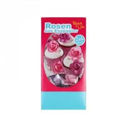 Fleurs Roses et Violettes en azyme