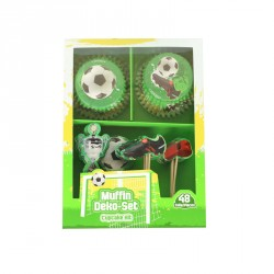 "Kit de décoration cupcakes ""Football"""