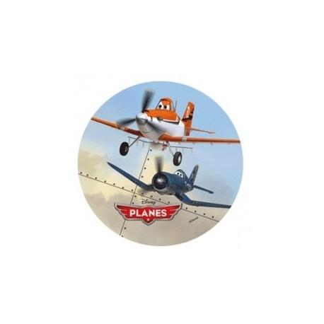 Disque pâte à sucre Planes 22 cm - Dusty et Skipper