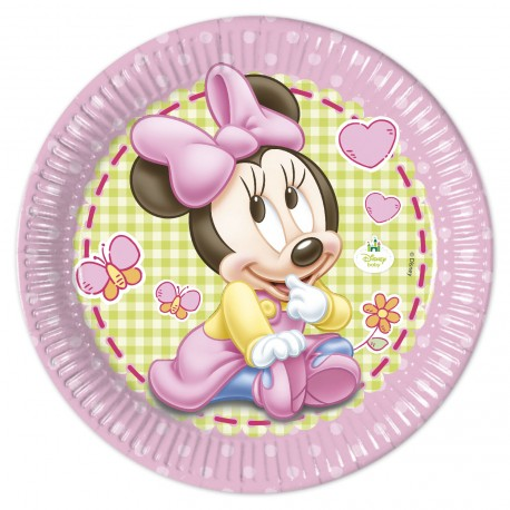 "8 Assiettes 23 cm ""Bébé Minnie"""