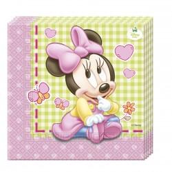 """20 Serviettes en papier """"Bébé Minnie"""""""