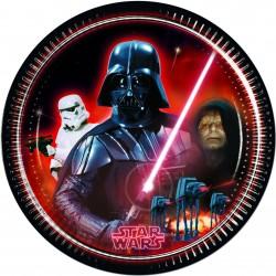 8 assiettes 23 cm - Star Wars