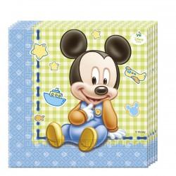 """20 Serviettes en papier """"Bébé Mickey"""""""