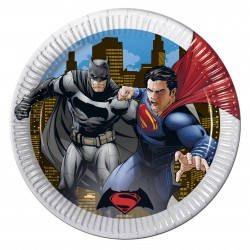 "8 Assiettes en carton ""Batman vs Superman"""