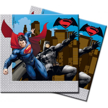 "20 Serviettes en papier ""Batman vs Superman"""