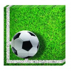 "20 Serviettes en papier ""Football"""