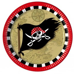 "8 Assiettes en carton ""Pirates"""