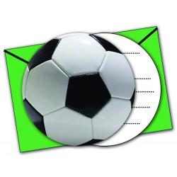 """6 Cartes d'invitation 'Football"""""""